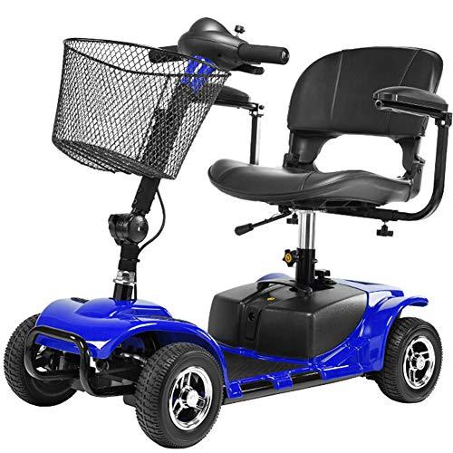 APOAD Elektromobil, e-mobil, Mini Scooter faltbar seniorenfahrzeug,vierrädriges elektrofahrzeug,elektroroller,zu Öffnender handlauf,elektromagnetische Bremse,drehbarer Sitz,Blue