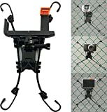 3 in 1 Universal Action Camera Backstop Chain Link Fence Mount for Action Camera/Digital Camera/Smartphone - Ideal Backstop Camera Mount for Recording Baseball,Softball and Tennis Games