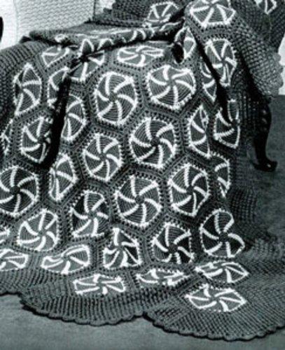 Crochet Pin Wheel Afghan Pattern - Vintage Crochet Pattern for Kindle Pin Wheel Afghan Pattern Download (English Edition)