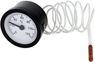 Analog Fernthermometer Einbauthermometer Thermometer 0 120 °C, rund