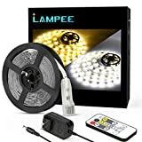 Dimmable LED Strip Lights, Lampee 16.4ft Daylight/ Warm White Non-waterproof Mirror Lights
