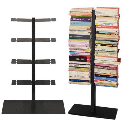 Radius Design Booksbaum Double Stand Petit Noir, 3tlg. Best. en : Support + Pied + étagères