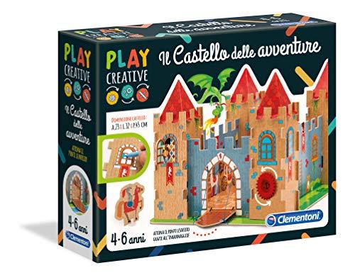 Clementoni- Play Creative-Il Castello delle Avventure Gioco, Multicolore, 15260