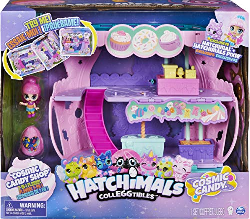 Hatchimals CollEGGtibles, Cosmic Candy Shop 2-in-1 Playset with Exclusive Pixie and Hatchimal, for Kids Aged 5 and up