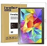 ivoler Panzerglas Schutzfolie Kompatibel für Samsung Galaxy Tab S 10.5 (SM-T800/SM-T805), 9H Festigkeit, Anti- Kratzer, Bläschenfrei, 2.5D R&e Kante