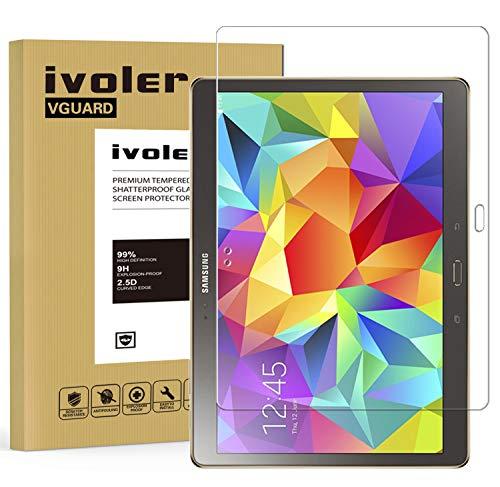 ivoler Panzerglas Schutzfolie Kompatibel für Samsung Galaxy Tab S 10.5 (SM-T800/SM-T805), 9H Härte, Anti- Kratzer, Bläschenfrei, 2.5D Runde Kante