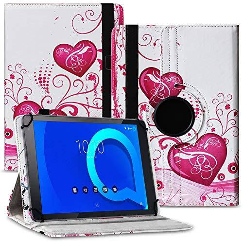 Tablet Hülle kompatibel für Alcatel 1T 10 Tasche Schutzhülle Hülle Schutz Cover 360° Drehbar 10.1 Zoll Etui, Farbe:Motiv 7