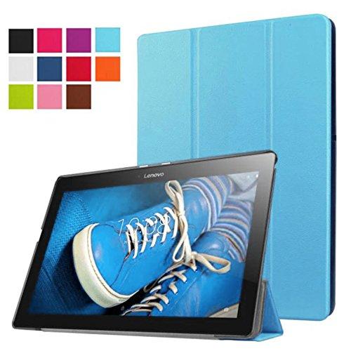 Lobwerk Tasche für Lenovo Tab 2 A10-30 A10-70F / Tab 10 TB-X103F 10.1 Zoll Schutz Hülle Flip Tablet Cover Hülle TB2-X30 F/L (Hellblau)