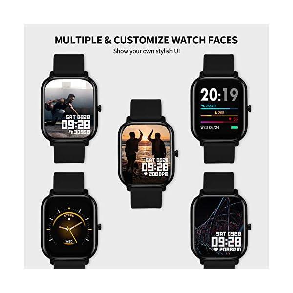 Smartwatch Mujer,Relojes Inteligentes Hombre para Android,Pulsera Actividad Inteligente de 1.3 Pulgada con Monitor de… 5