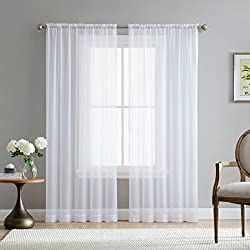 top 10 sheer curtains HLC.ME kitchen, bedroom, … white transparent curtain voile with pockets