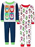 Nickelodeon Top Wing Toddler Boy's 2fer 4 Piece Long Sleeve Pajamas Set (2T, Rescue Sky)
