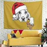 XHJQ88 - Tapiz de Navidad con Estampado de Animales, tamaño Grande, para decoración de Fiestas, Blanco, 40 * 59