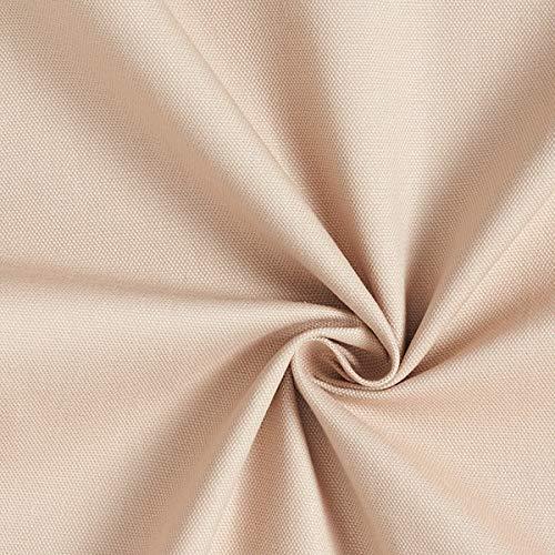 Fabulous Fabrics Dekostoff Canvas – Sand — Meterware ab 0,5m — zum Nähen von Taschen, Kissen/Tagesdecken & Tischdecken