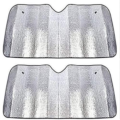 LUKUCEA Parasol Coche Delantero Parasoles Coche Parasol Delantero Coche Plegable Protege de Rayos UV Apto a la Mayoría de Coches y Suvs 2 Unidades 31 x 86 Pulgadas