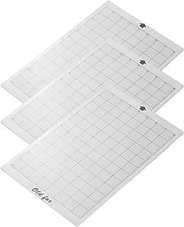 Aibecy ALTE FOX - Alfombrilla de corte transparente con rejilla de medición de 8 de 12 pulgadas para Silhouette Cameo Cricut Explore Plotter Machine, 3 piezas
