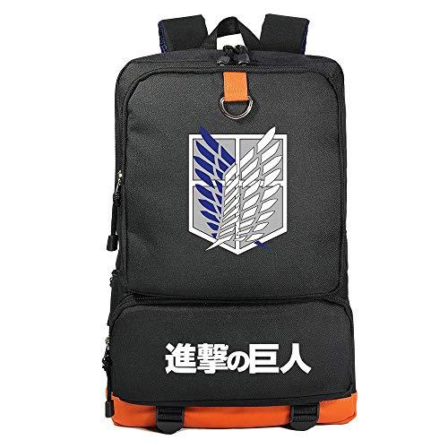 Zaino di Attack on Titan, Alta Capacita Zaino Scuola con Logo della Legione Esplorativa Unisex Casuale Viaggio Zaini Laptop da 17 Pollici Borsa Anime Cosplay Attacco dei Giganti Zaino (B1)