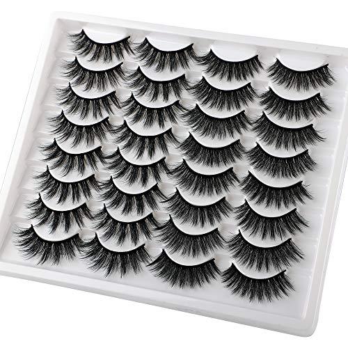 JIMIRE 2 Variety Styles False Eyelashes 16 Pairs Fluffy Volume Natural Fake Lashes Pack