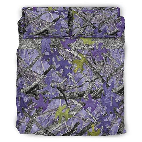Zaclay 4er-Set Timber Bettdecke Bettwäsche Sets Bettbezüge/Kissenbezüge Tagesdecke - weich und bequem Bettlaken Set Abdeckung White 203x230cm