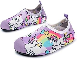L-RUN Kids Swim Water Shoes Barefoot Aqua Socks Shoes for...
