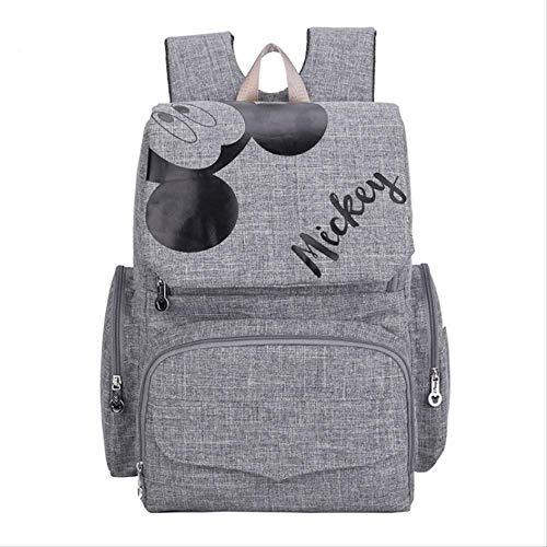 Disney Mummy Wickeltasche Umstands Wickeltasche für Babypflege Reiserucksack Designer Disney Mickey Minnie Taschen Handtaschegrau