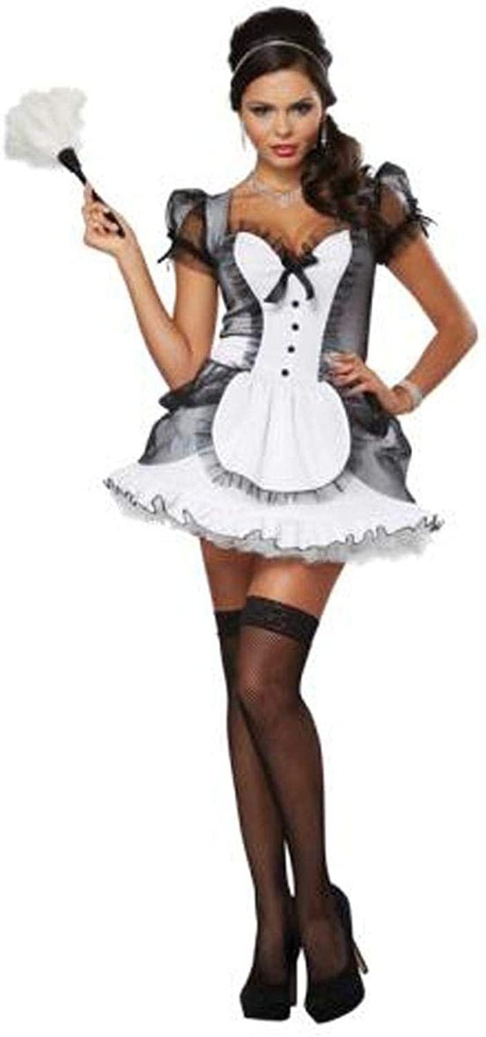 Adult Luxe French Maid Costume Dress size SMALL