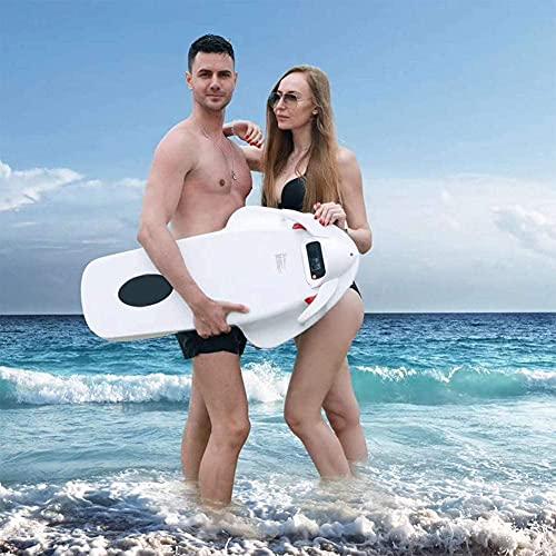Power Swimming Kickboard Lifebuoy Electric Power Surf Skateboard Paddle Tabla de Agua Hélice de Agua 36V Blanco