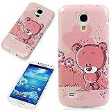 Handy Lux® Schutz Hülle Etui Silikon TPU Hülle Cover Design Motiv für Samsung Galaxy E5 - Bear Bärchen Rosa