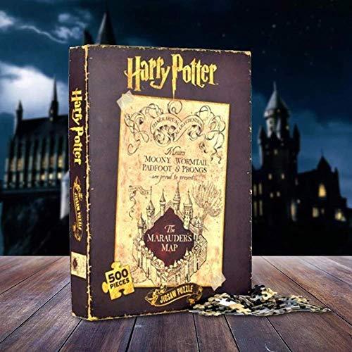 Harry Potter Puzzhp04 carte du maraudeur, puzzle, carte du maraudeur, 500 pièces