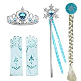 Rich accessories, your little princess will be the most beautiful star Include:1* Crown + 1*Magic wand+1*gloves+1*Elsa Wig Great for special occasions parties such as halloween,christmas(Xmas) holidays,birthdays and pageants!