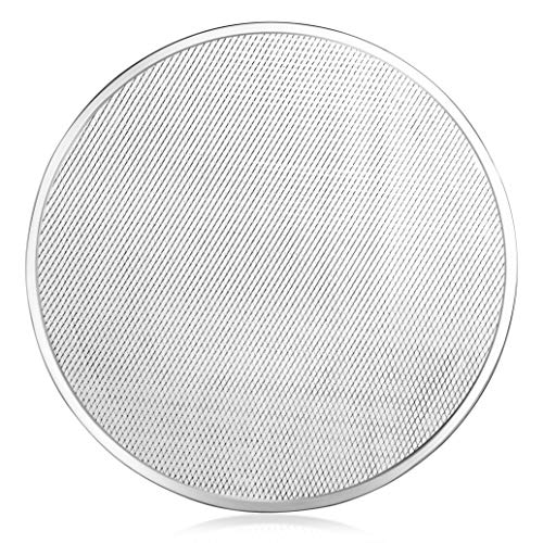 New Star Foodservice 50998 - Pantalla de Pizza para Horno, sin Costuras, Grado Comercial, Aluminio, 50,8 cm, 6 Unidades