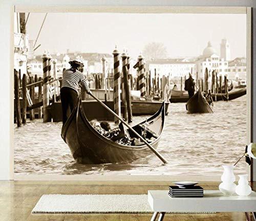 3D vliesbehang fotobehang Het natuurlijke landschap zwart-wit 3D voor woonkamer achtergrond 200*140 200 x 140 cm.