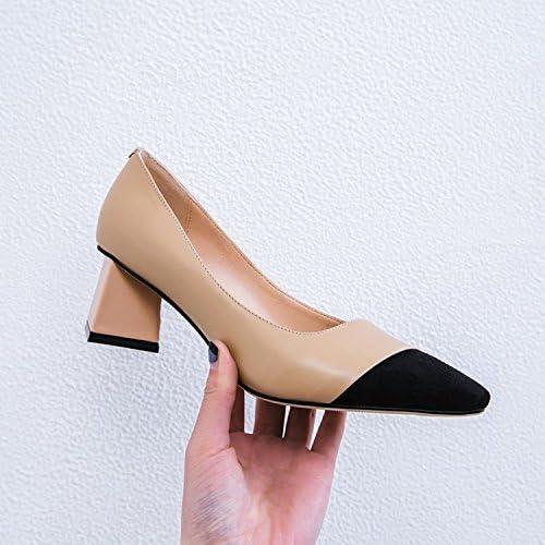 Jqdyl Tacones zapatos de mujer Tacón Punta Boca poco profunda zapatos de mujer