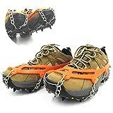 FHKBK Poignées à Neige glacée à 8 dents, crampons d'escalade Couvre-Chaussures antidérapants portables griffes Anti-ski Avec Sac de Rangement