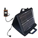Delorme InReach Explorer Compatible SunVolt Portable High Power Solar Charger by Gomadic - Outlet- Speed Charge for Multiple Gadgets