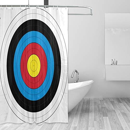 FAJRO - Cortina de Ducha de poliéster para Tiro con Arco, Lavable a máquina, antibacteriana, para bañeras, 66 x 183 cm