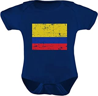 TeeStars - Colombia Flag Vintage Style Retro Colombian Infant Baby Bodysuit