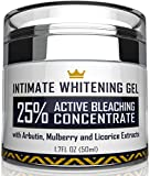 Intimate Whitening Cream - Made in USA Skin Lightening Gel for Body, Face, Bikini and Sensitive Areas - Underarm...