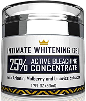 Intimate Whitening Cream - Made in USA Skin Lightening Gel for Body Face Bikini and Sensitive Areas - Underarm Bleaching Cream with Mulberry Extract Arbutin Licorice Extract - 1.7 oz