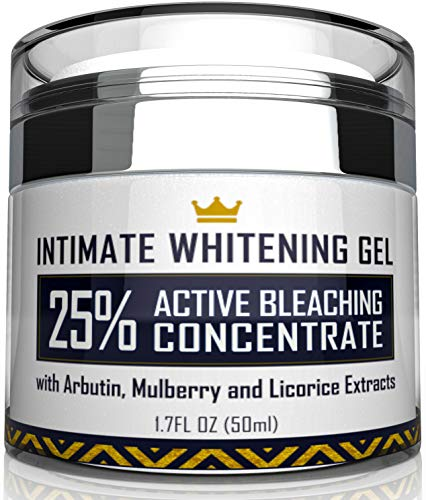 Іntіmatе Whіtеnіng Cream - Made in USA Skin Lightening Gel for Body, Face, Bikini and Sensitive Areas - Underarm Bleachіng Cream with Mulberry Extract, Arbutіn, Licorice Extract - 1.7 oz