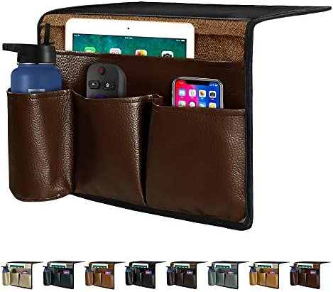 Joywell Leather Bedside Caddy Bedside Storage Organizer Remote Control Holder Insert Mattress product image