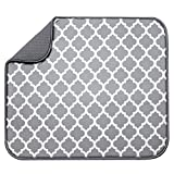 S&T INC. Absorbent, Reversible Microfiber Dish Drying Mat for...
