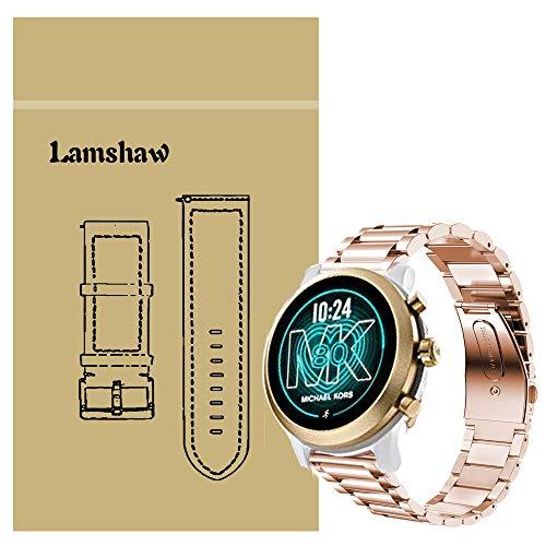 LvBu Armband Kompatibel mit Michael Kors MKGO, Classic Edelstahl Uhrenarmband für Michael Kors Access MKGO Smartwatch (Roségold)
