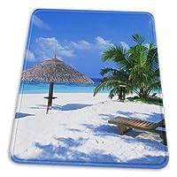 マウスパッド ビーチ モルディブ 海 砂浜 海岸 楽園 ゲーミングマウスパット デスクマット 最適 高級感 おしゃれ 滑り止めゴム底 防水設計 複数サイズ