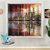 Cortinas opacas de oscurecimiento de habitación, 160 cm de largo, cortinas de ventana para sala de estar, fondo abstracto fractal hecho por muchas olas