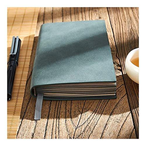 Mini Cuadernos, Suff SurfacenoteBook, Sheepskin auténtico, 6.8 x3.9, Negocios, Cuaderno General, Exquisito Literatura de Negocios y Diario de Arte (Color : Dark Green)
