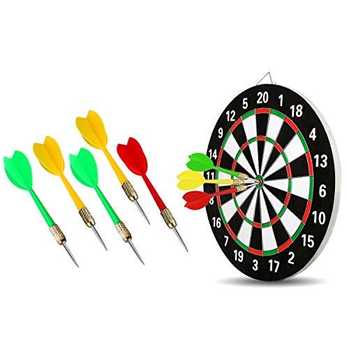 BESPORTBLE Darts Tragbare Praktische Haltbare Mehrfarbige Stahl Messing Barrel Darts Pfeile für Indoor Outdoor Dart Spiel Aktivitäten 5Pcs (Zufällige Farben)