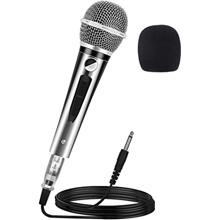 Schwarz Disco DJ Vocal Karaoke Handheld Wired Dynamisches Mikrofon 10ft