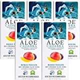 Aloe Cadabra Flavored Personal Lubricant Organic Passion Lube for Anal Sex, Oral, Women, Men & Couples, Mango Passion 2.5 Ounce (Pack of 5)