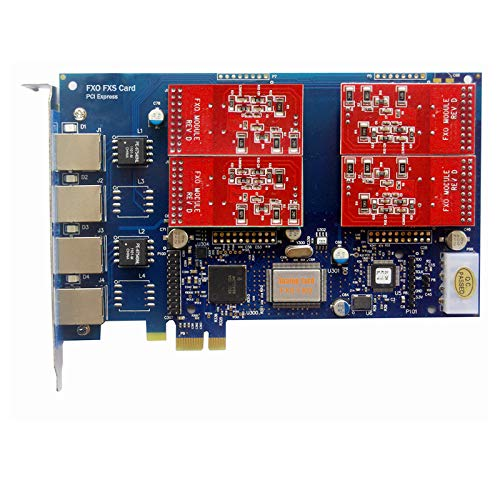 Analog FXO Card with 4 FXO Ports,PCI Express (PCI-E) Connector,For Issabel ,Freepbx,AsteriskNow tdm410e Fori VoIP Telephone System IP PBX
