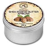 Burro di Karité 400g - Non Raffinato - Naturale al 100% - Spremuto a Freddo - Burro di Karité Puro Africano -Ghana- Meglio per i Capelli - Pelle - Labbra e Viso - Cura del Corpo - Butter Shea